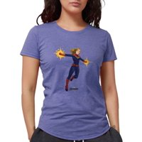 CafePress - Captain Marvel Womens Tri Blend T Shirt - Womens Tri-blend T-Shirt