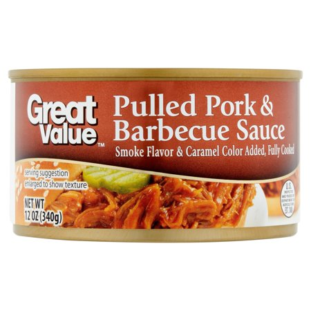 (2 Pack) Great Value Pulled Pork & Barbecue Sauce, 12
