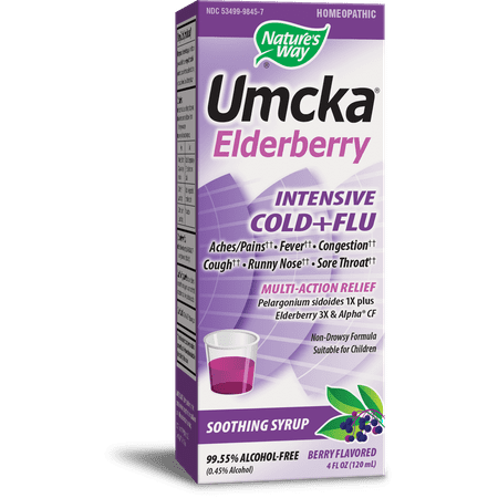 Natures Way Umcka Elderberry Intensive Cold and Flu Syrup 4 (Flu Care Tabs)