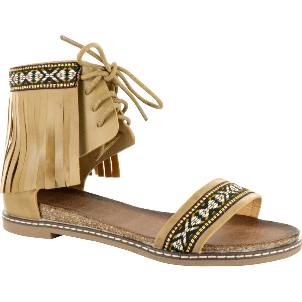 Corkys Footwear Womens Corky s Beige Multi Sandal by CORKYS FOOTWEAR