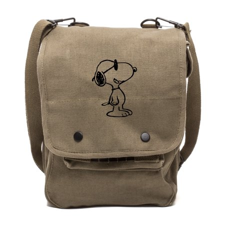 Happy Snoopy Canvas Crossbody Travel Map Bag Case](Mlp Bags)