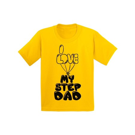 Awkward Styles Kids T-Shirt Dad Shirt I Love my Step Daddy Youth T Shirt Step Parents I Love my Dad Shirt Best Father Ever T Shirt Cute Shirt for Girls Boys T Shirt Kids Clothing Step Parents (Best Gift For My Parents Anniversary)