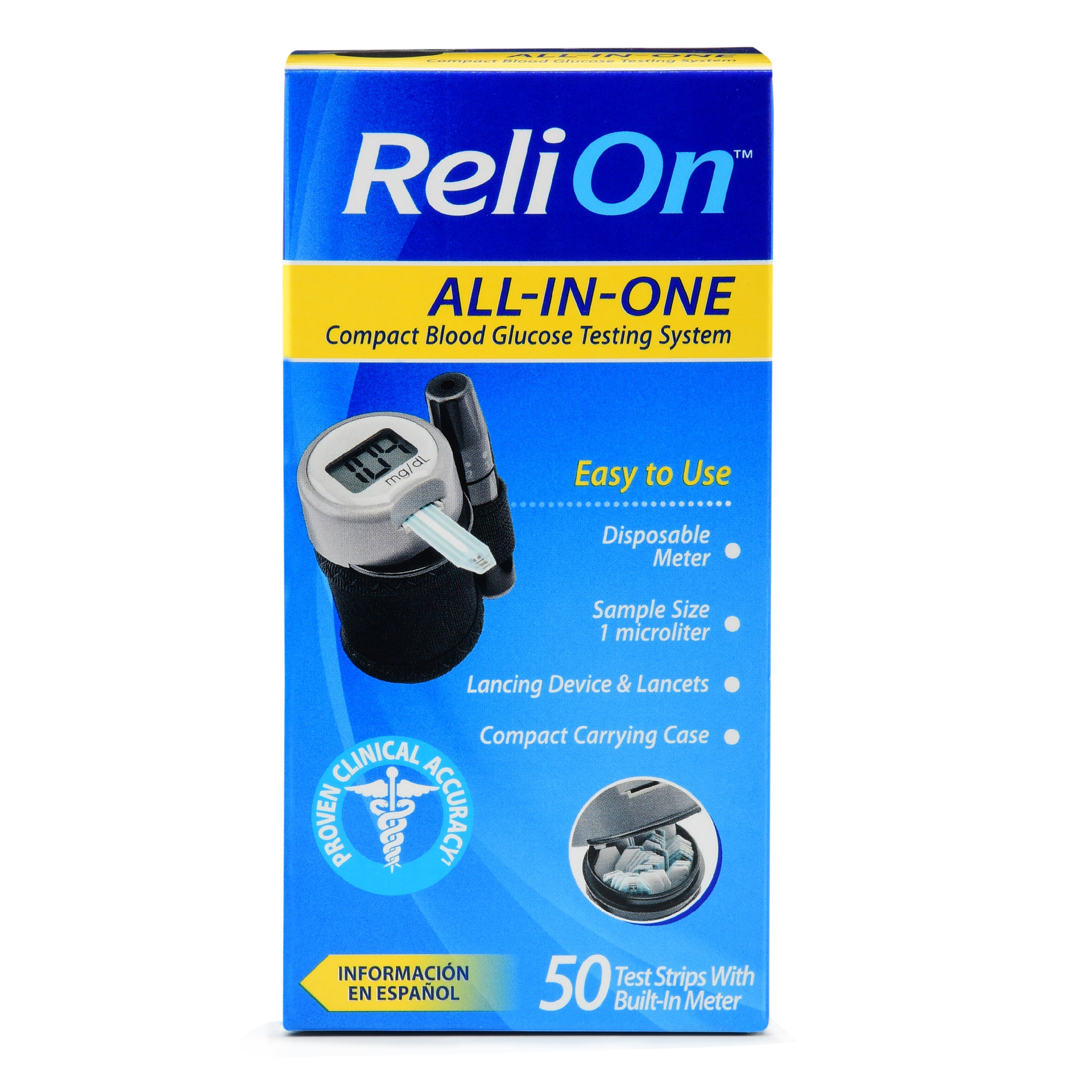 ReliOn All-In-One Compact Blood Glucose Testing System