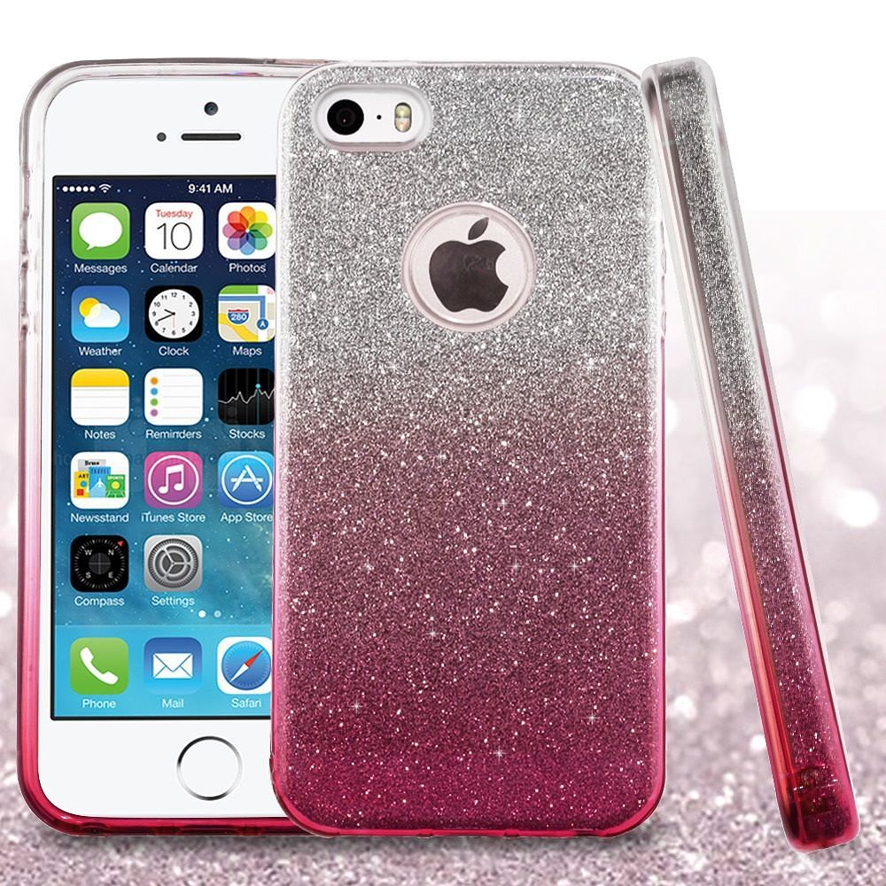 iphone 5s case iphone se case by insten gradient glitter dual