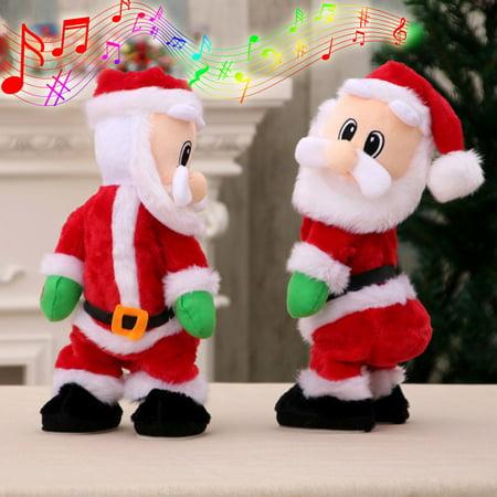 Toys R Us Santa Rosa (Electric Twerk Santa Claus Toy Xmas Music Singing Dancing Twisted Wiggle Hip Doll Christmas Home Decoration Kids)