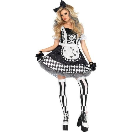 Leg Avenue Womens 2 PC Wonderland Alice Costume (Alice Wonderland Costumes)