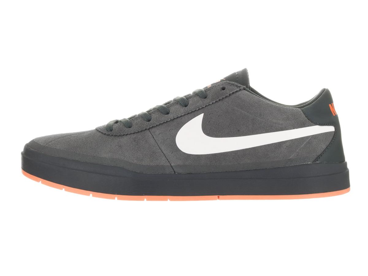 Nike Men's Bruin Sb Hyperfeel Xt Anthracite / White Clay Orange Ankle-High Suede Skateboarding Shoe - 8M