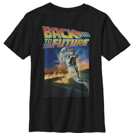 Back to the Future Boys' Retro Marty McFly Poster T-Shirt](Back To The Future 2 Shoes Halloween)