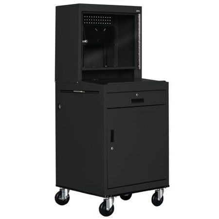 Sandusky Cabinets Mobile Computer Security Workstation AV Cart with Doors ()