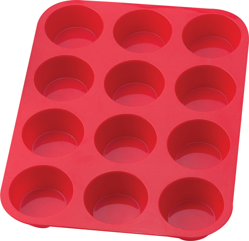12 Cup Silicone Muffin Pan 43630 by Harold Imports