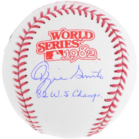Ozzie Smith St. Louis Cardinals Autographed 1982 World Series Logo Baseball with 82 WS Champs Inscription - Fanatics Authentic (Cardinals Ozzie Smith Autographed Baseball)