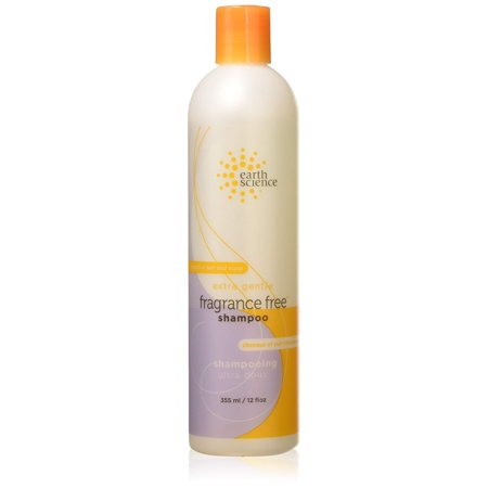 Earth Science Fragrance Free Shampoo with mild coconut-based cleansers for sensitive scalp & hair â?? 12 oz. (Pack of 2)