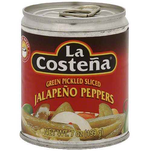 La Costena Green Pickled Sliced Jalapeno Peppers, 7 oz (Pack of 24)
