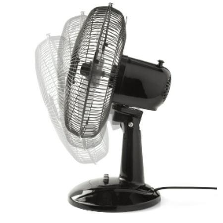 Mainstays 12 in Table 3-Speed Fan, Model FT30-8MBB, Black
