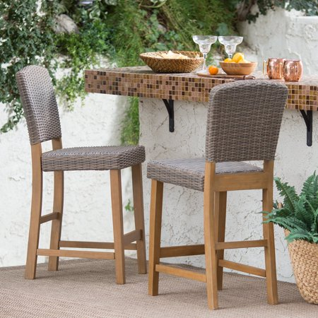 C Coast Avalonia All Weather Wicker Counter Height Patio Bar Stool Set Of 2