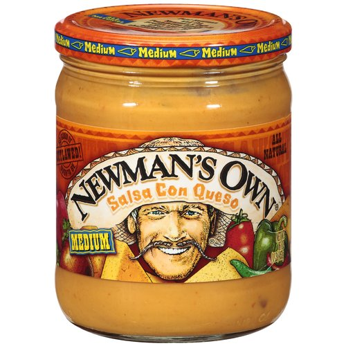 Newman's Own All Natural Medium Salsa Con Queso, 16 oz