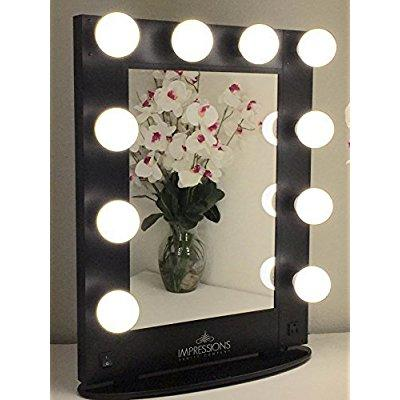 Impressions Vanity Kw Glam B Hollywood Glam Vanity Mirror With Led