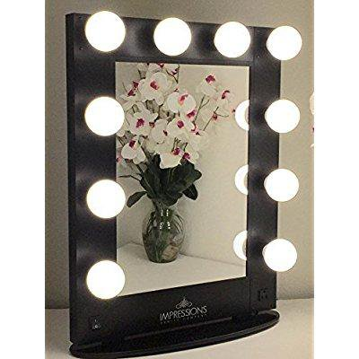 Impressions Vanity Kw Glam B Hollywood Glam Vanity Mirror With Led