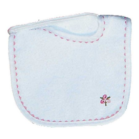 Raindrops Baby Girls Girl Appliqued Bib, White/Pink