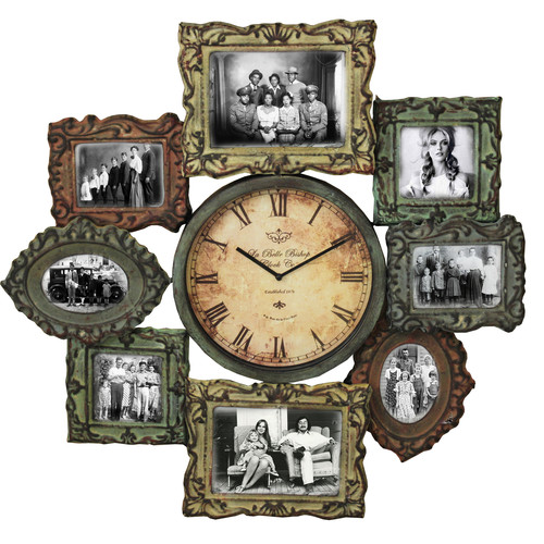 EC World Imports Urban Designs Oversized 25'' Wall Clock and Picture Frame