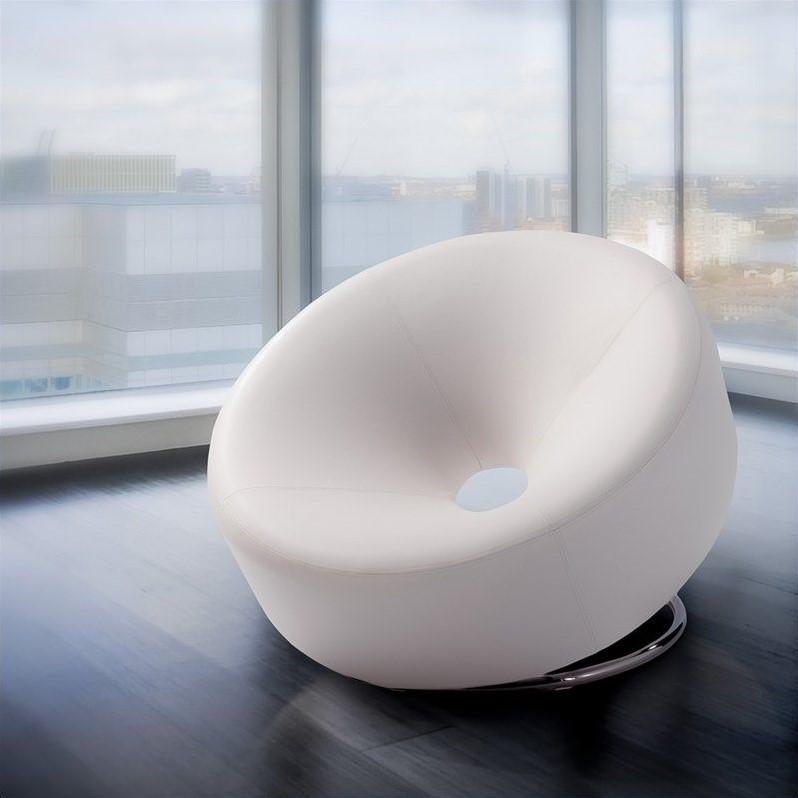 Trent Home Angelino Modern Egg Chair in White