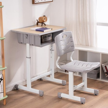 Ktaxon Kids Desk And Chair Set Height Adjule Children