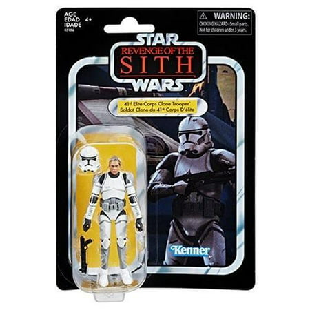 Star Wars The Vintage Collection 41st Elite Corps Clone Trooper Figure 3.75 Inches - Clone Wars Plo Koon