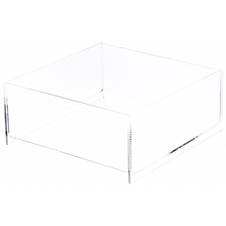 Plymor Brand Clear Acrylic Square Open Top Merchandise