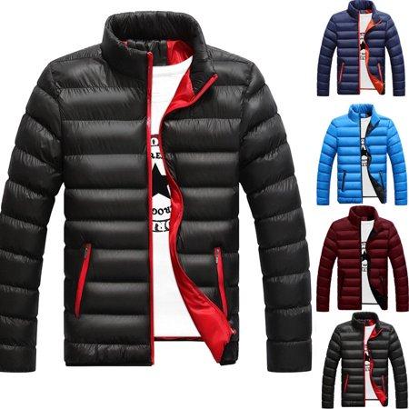 Winter Men's Warm Ultralight Puffer Down Parka High Neck Coat Jacket ()