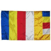 7194 Super Polyester Buddha Flag Indoor Outdoor, 3 x 5 inch