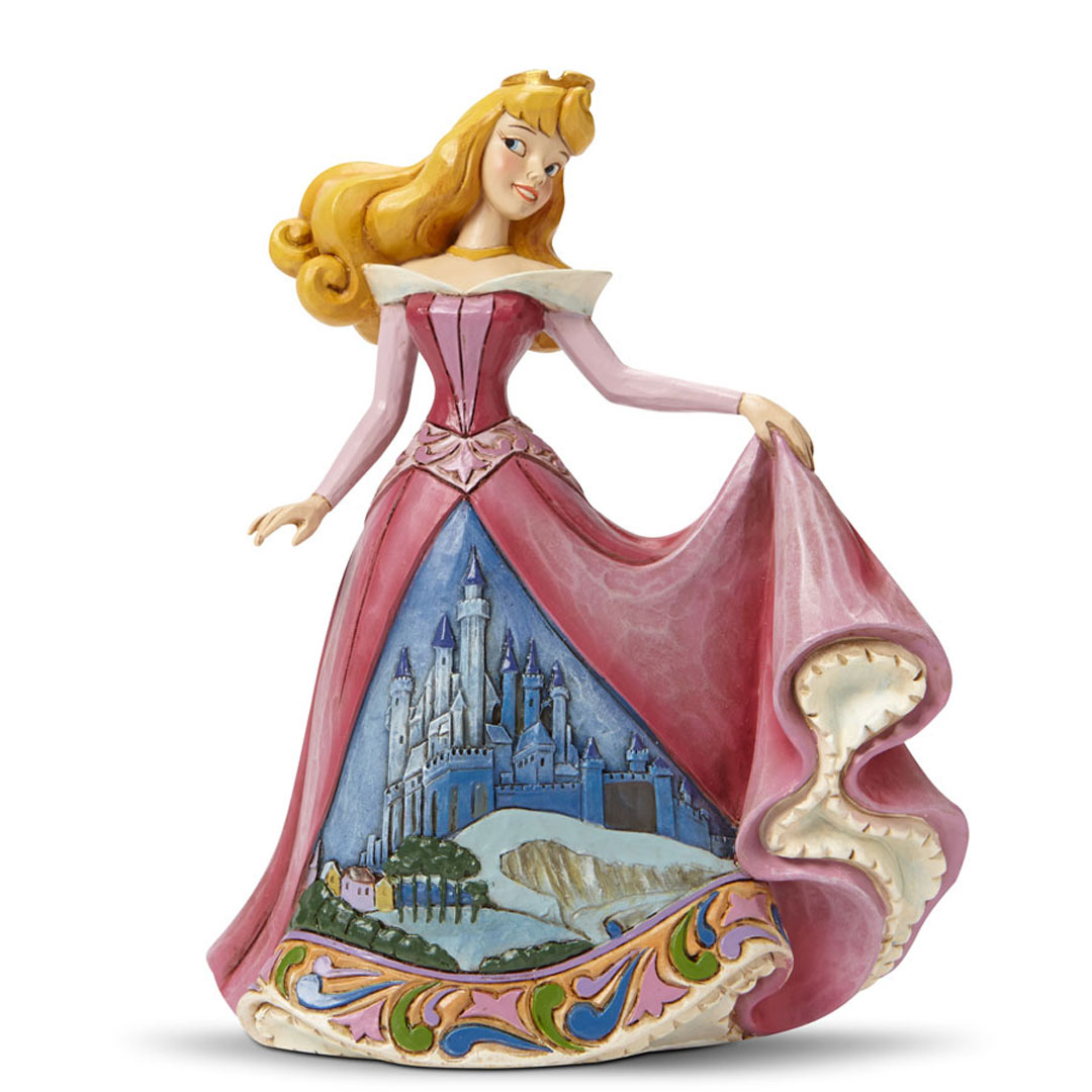 Jim Shore Disney Princess Aurora with Castle Dress 4045242 New 2015