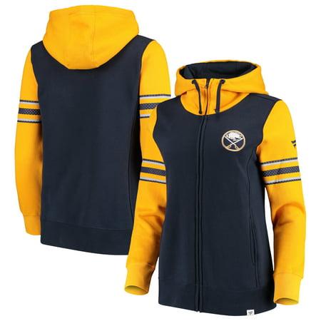 Buffalo Sabres Fanatics Branded Women's Iconic Fleece Full-Zip Jacket - Navy/Gold ()