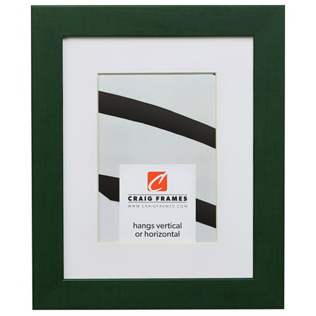 5 Inch Green - Craig Frames Colori, 5 x 7 Inch Green Picture Frame Matted to Display a 4 x 6 Inch Photo