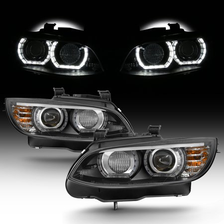 HID/Xenon For 07-10 BMW 328i 335i 3-Series Coupe LED Projector Black (2005 Bmw 3 Series Coupe)