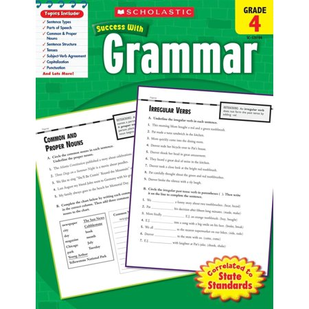 Scholastic Success with Workbooks: Grammar: Grammar, Grade 4 (Focus On Grammar 4 Workbook Answer Key)