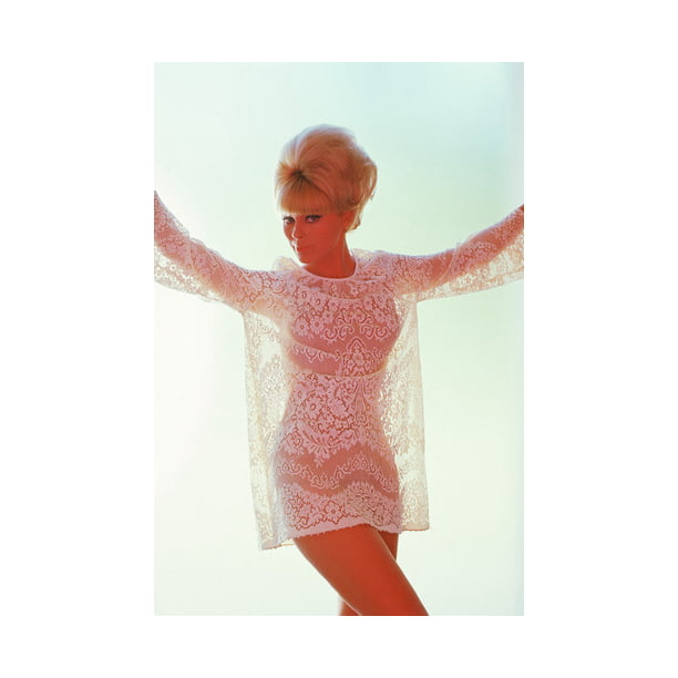 Elke Sommer Busty Color In See-Thru Top 24X36 Poster