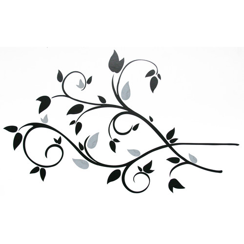 Room Mates Deco Scroll Branch Foil Leaves Wall Decal