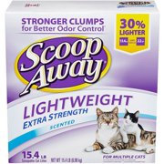 Scoop Away Lightweight Extra Strength Scented Cat Litter, 15.4 lbs