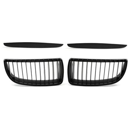 Matte Black Front Kidney Grill Grilles For  05-08 E90 E91 325i 328i 335i 330i ()