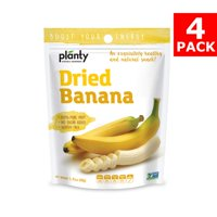 Planty Dried Fruit Snacks, No Sugar Added, Non-GMO, Vegan and Kosher Certified (Banana, 4-Pack)