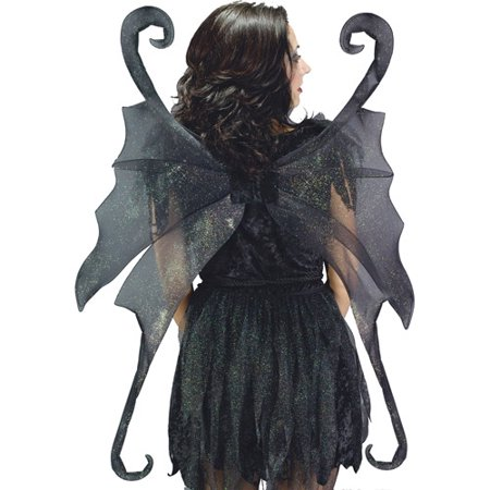 Black Large Fairy Halloween Adult Wings](Peacock Fairy Wings)