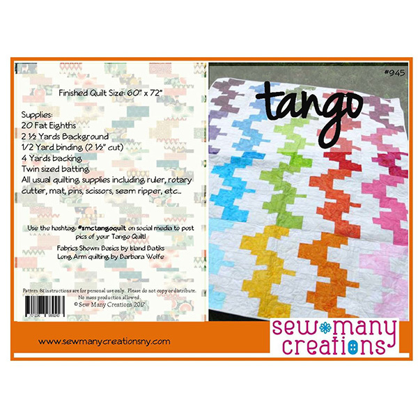 Tango Quilt Pattern by Sew Many Creations