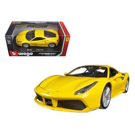 Kit Ferrari (Ferrari 488 GTB Yellow 1/24 Diecast Model Car by Bburago )