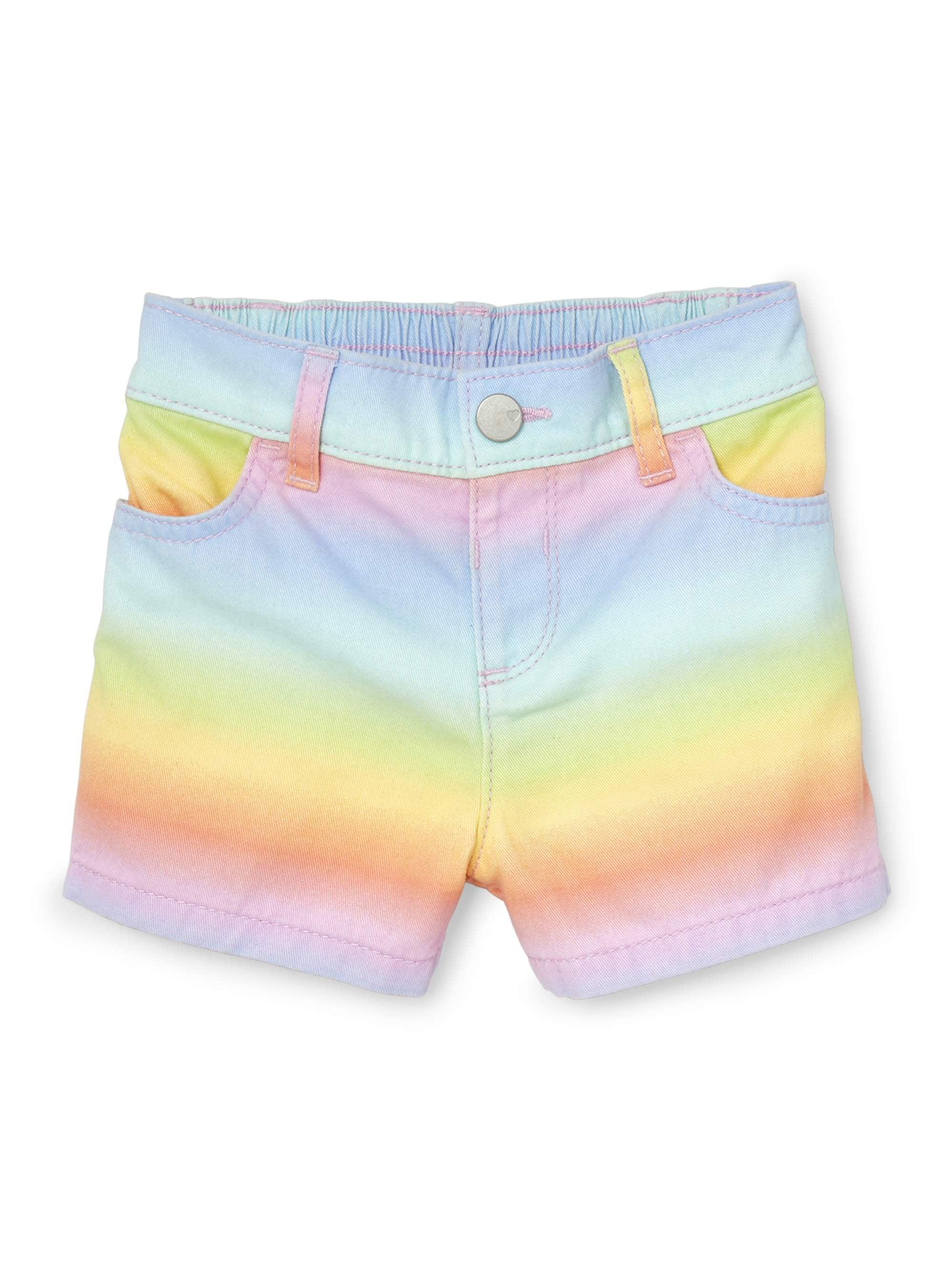 Rainbow Denim Shorts (Baby Girls & Toddler Girls)
