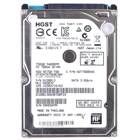 Refurbished Hitachi Travelstar 5K750 750GB 2.5
