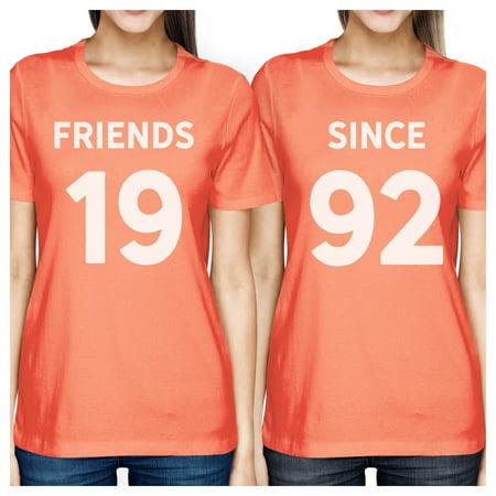 Friends Since Peach Best Friend Custom Shirts Cute Gift For