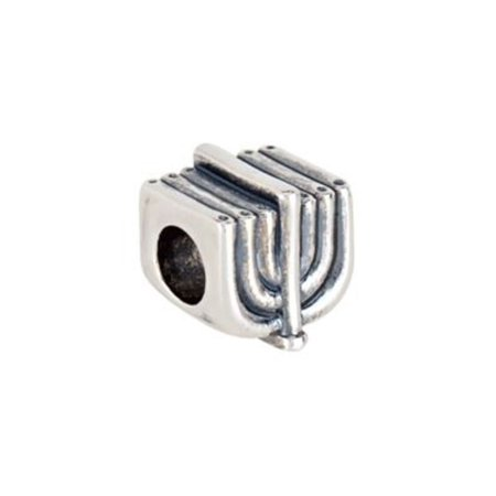 Kera Menorah Slider Bead in Sterling Silver