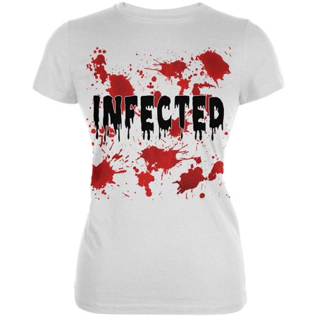 Halloween Infected Blood Splatter Juniors Soft T Shirt