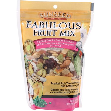 Sunseed Fabulous Fruit Mix Dry Parrot Treat, 12 (Best Parrot Seed Mix)
