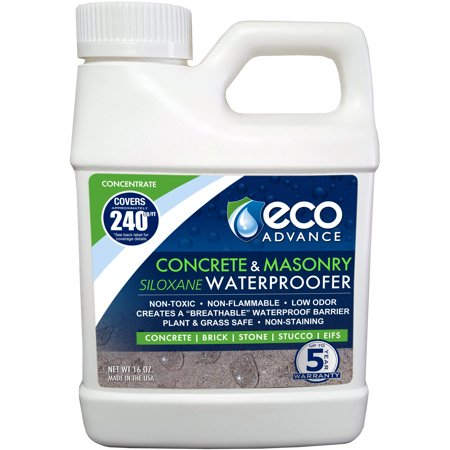 Eco Advance Concrete Masonry Siloxane Waterproofer  Liquid Concentrate  16 Oz